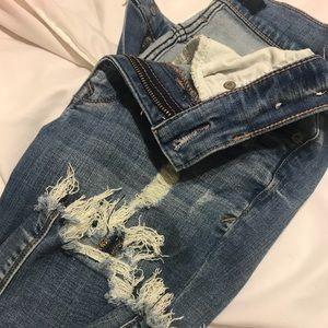 Raw hem jeans!!